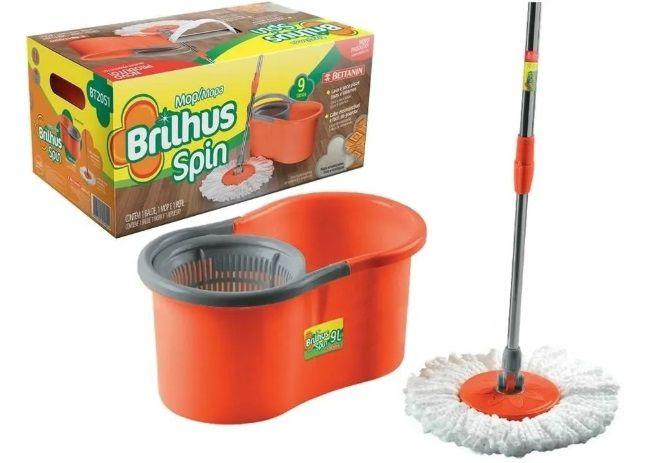 MOP SPIN PLASTICO 12L BT2051 (BRILHUS)