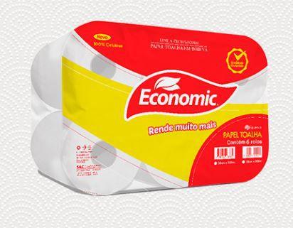 PAPEL TOALHA BOBINA ECONOMIC  CELULOSE 6X150 (RESERVA)