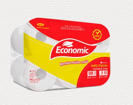 PAPEL TOALHA BOBINA ECONOMIC CELULOSE 6X200 (RESERVA)