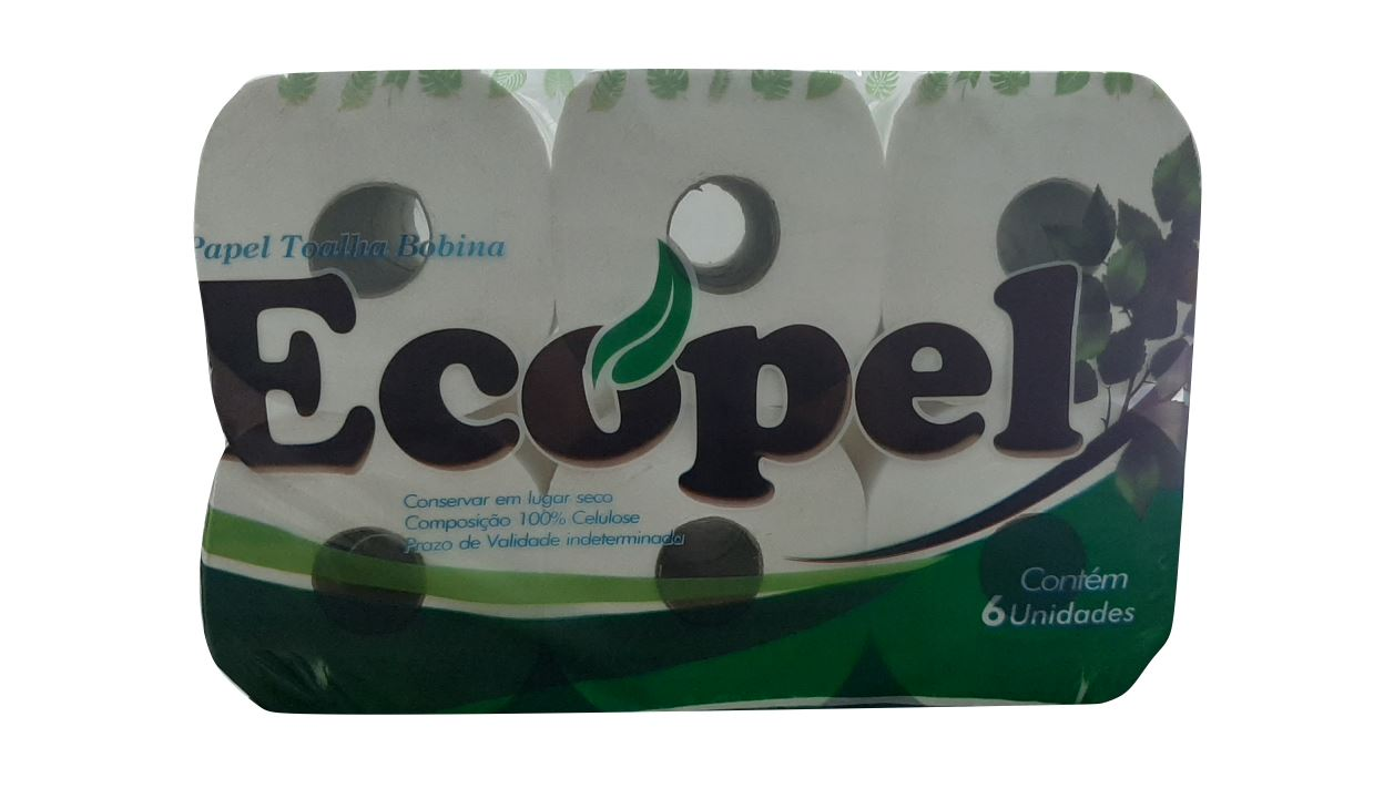 PAPEL TOALHA BOBINA ECOPEL PREMIUM 6X200 (PROSPACK)