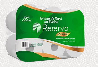 PAPEL TOALHA BOBINA PREMIUM CELULOSE 6X200 (RESERVA)