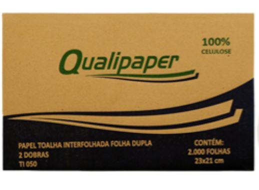 PAPEL TOALHA INTERFOLHADO C/2000 FOLHA DUPLA 23X21 (QUALIPAPER)