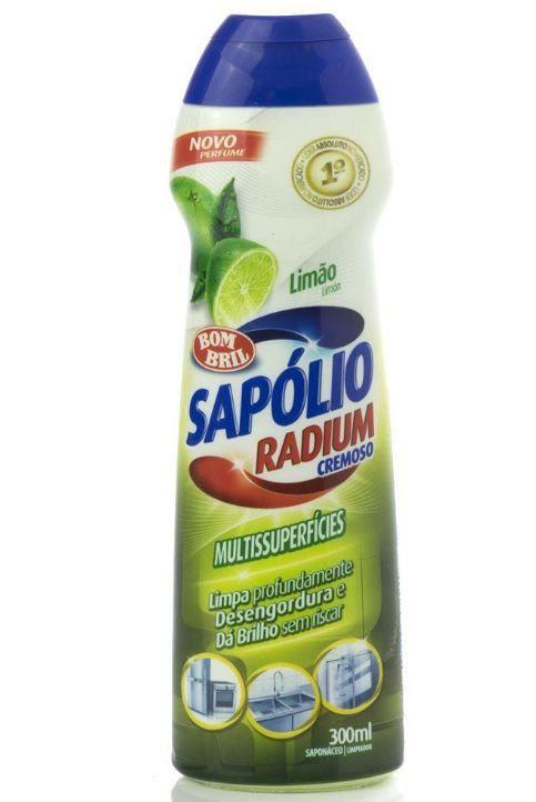 SAPOLIO RADIUM CREMOSO 250ML LIMAO (BOMBRIL)