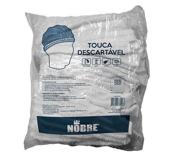 TOUCA DESCARTAVEL SANFONADA PCT C/ 100UND (NOBRE)