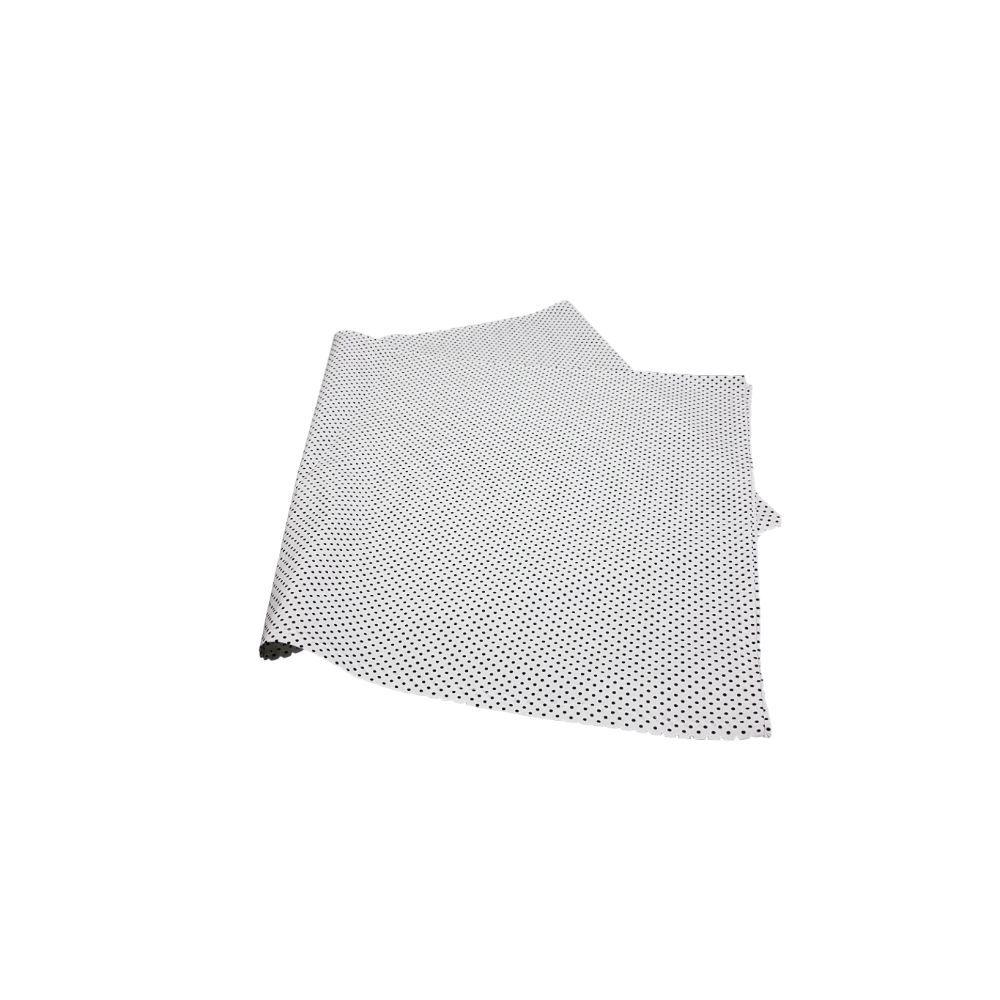 Caminho de Mesa Fundo Branco com Poá Branco em tricoline 100% algodão