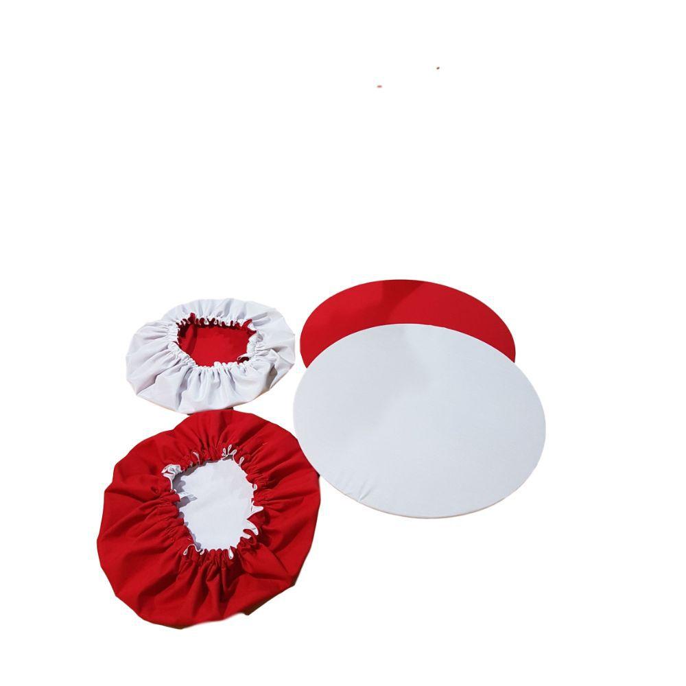 Capa Sousplat Dupla Face Branco e Vermelho em tricoline 100% algodão