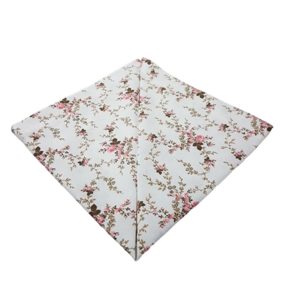 Guardanapo com Estampa Floral Rosas Pequenas em tricoline 100% algodão