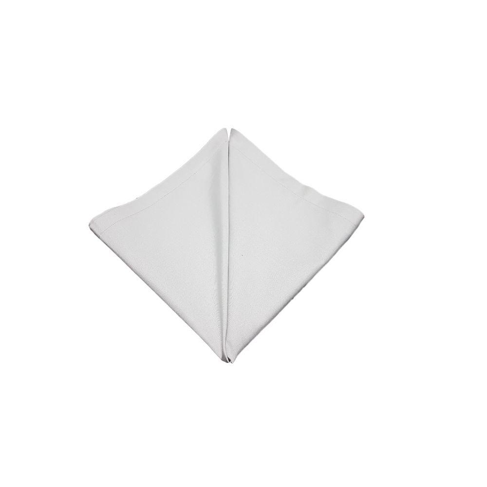 Guardanapo Liso Cinza Prata em tricoline 100% algodão