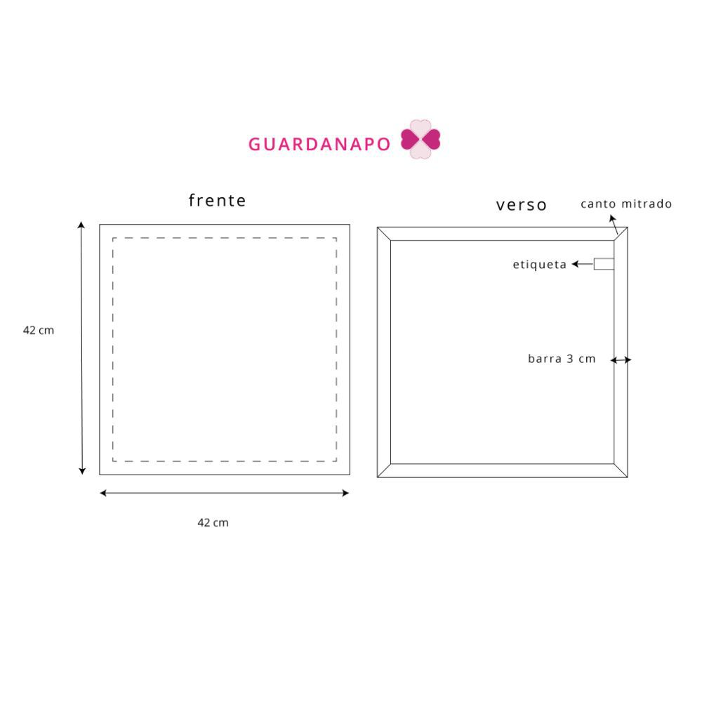 Kit Guardanapo Diversas Estampas em Xadrez em tricoline 100% algodão - 2 pcs