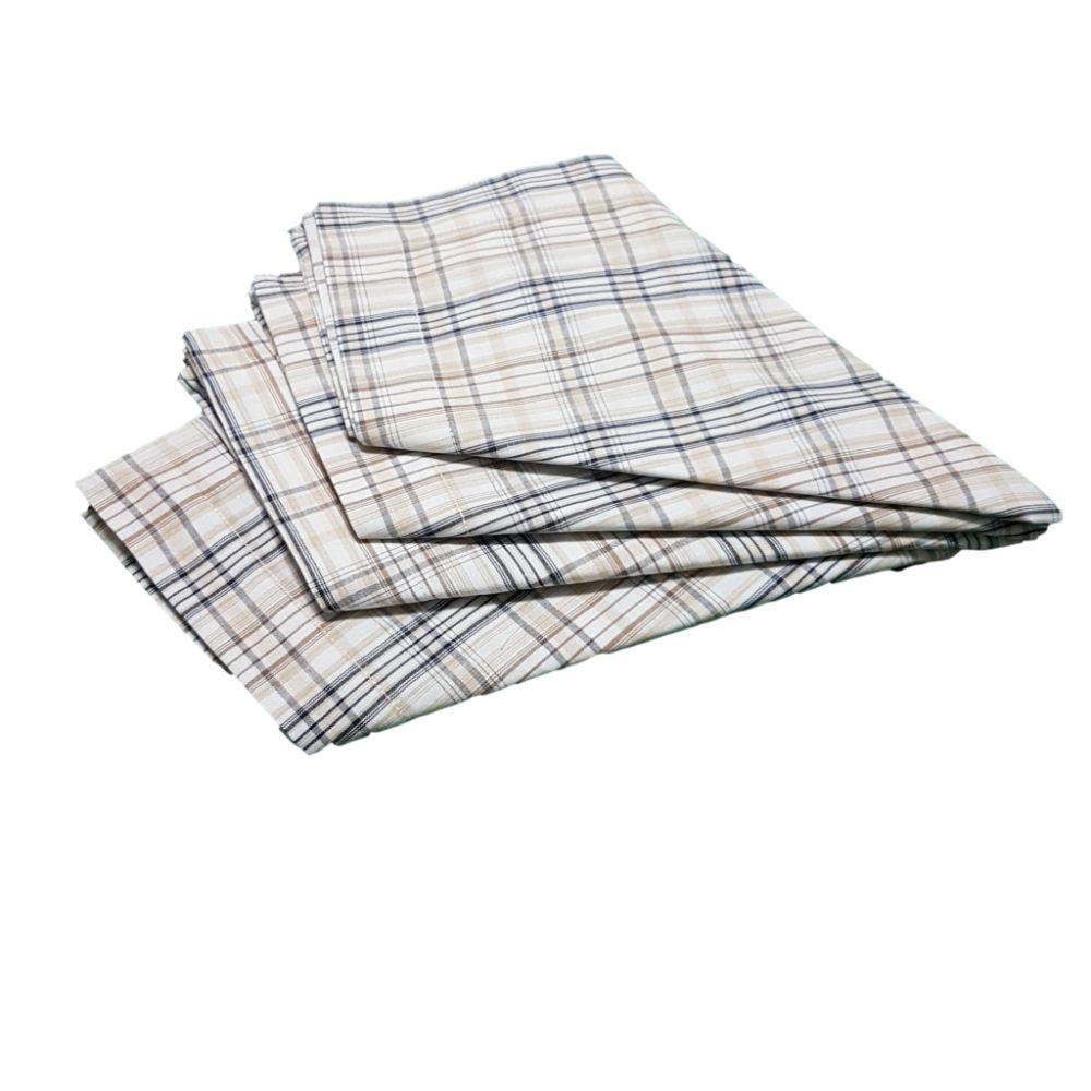 Kit Guardanapo Diversas Estampas  Xadrez em tricoline 100% algodão - 4 pçs