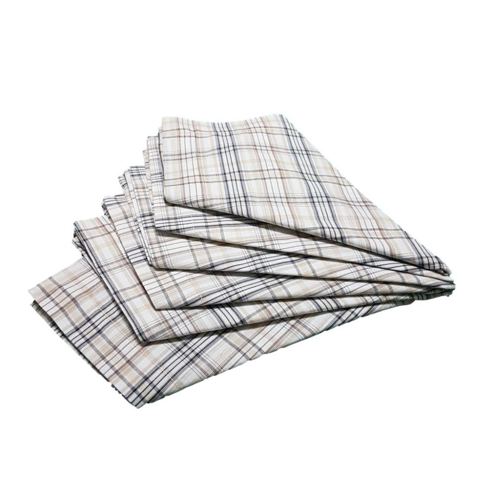Kit Guardanapo Diversas Estampas  Xadrez em tricoline 100% algodão - 6 pçs