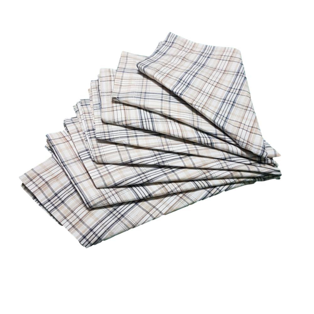 Kit Guardanapo Diversas Estampas  Xadrez em tricoline 100% algodão - 8 pçs