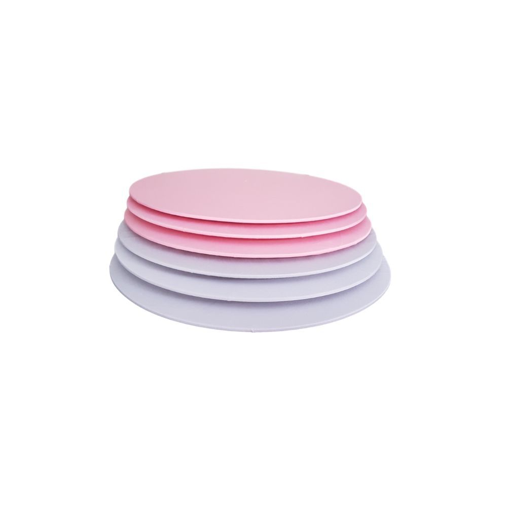 Kit Sousplat Dupla Face Cinza e Rosa em tricoline 100% algodão - 6 pcs
