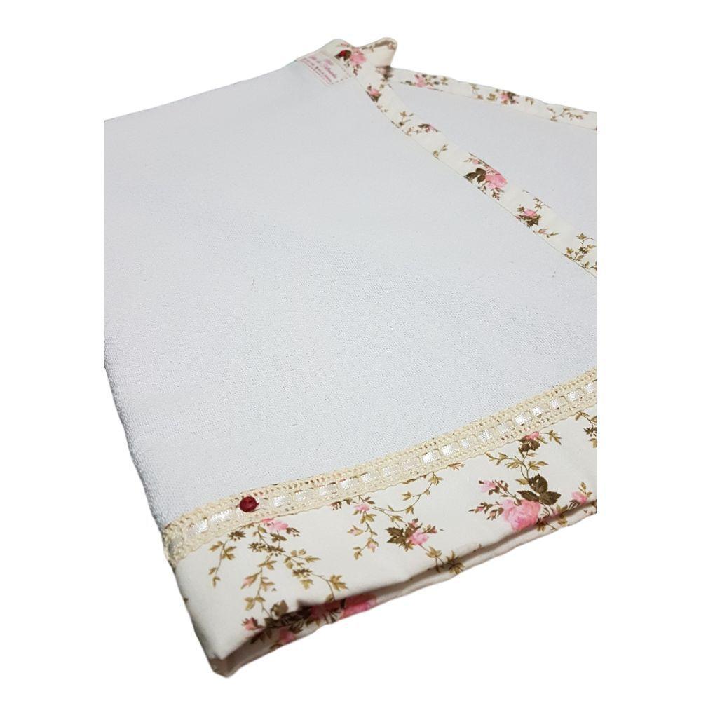 Pano de Prato Duplo Branco com Diversas Estampas Florais