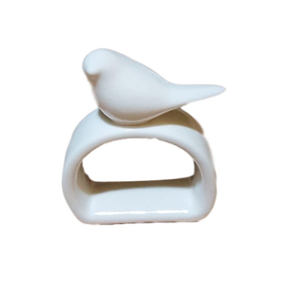 Porta Guardanapo de Porcelana Diversas Cores Passarinho