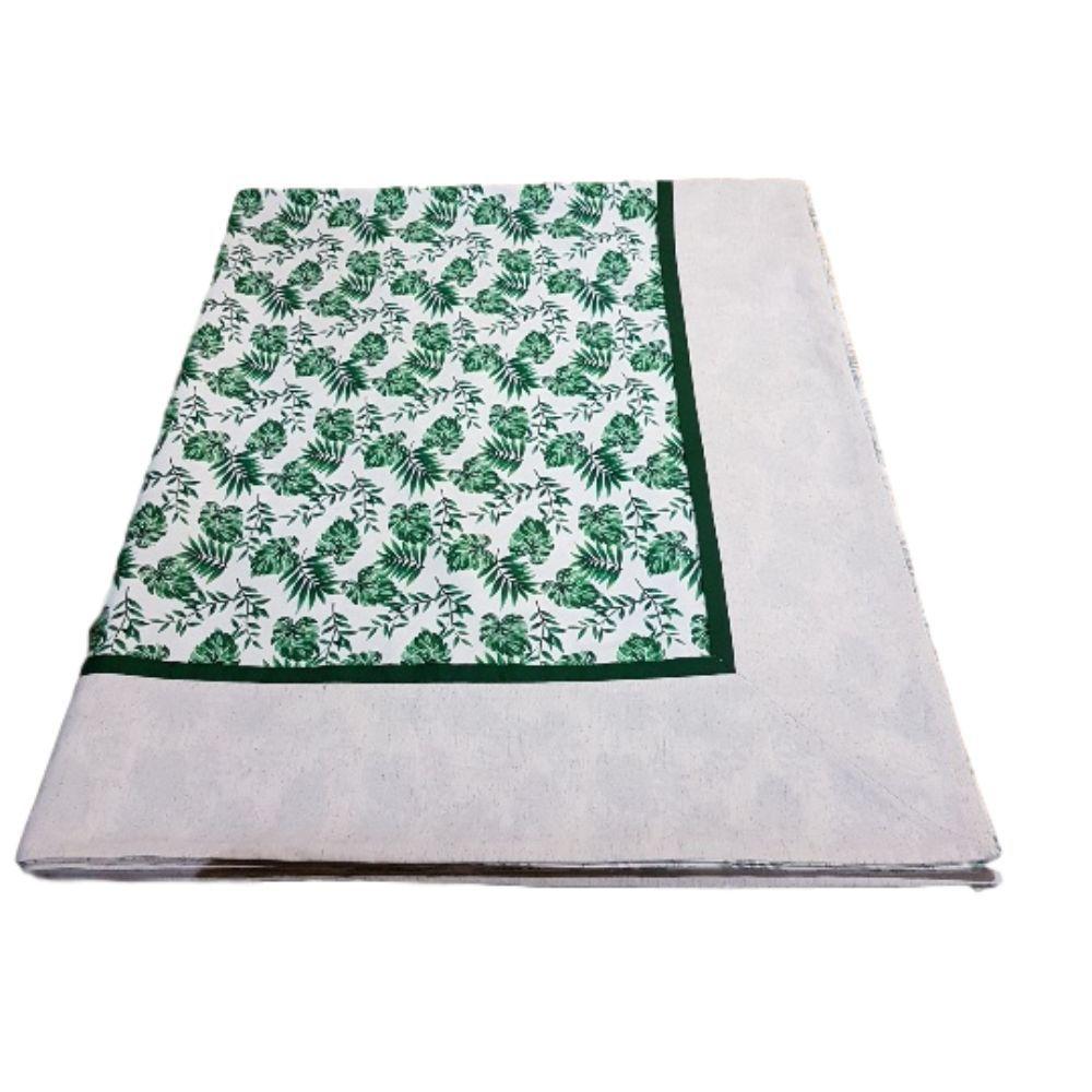 Toalha de Mesa 4 lugares Costela de Adão em linho misto e tricoline 100% algodão