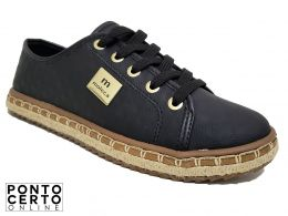 Sapato Casual Fem 5674.101 Preto