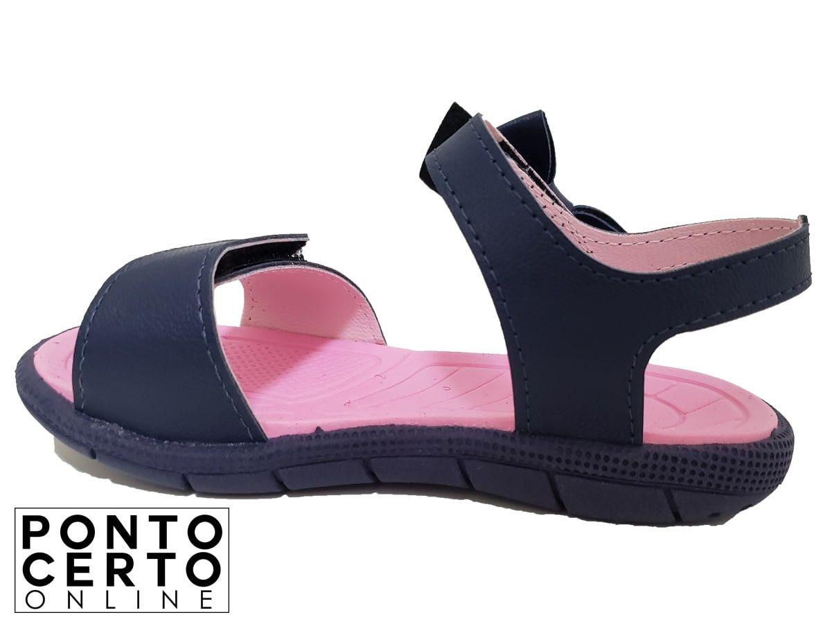 Papete Inf Fem Marinho/Rosa 17105300 Klin