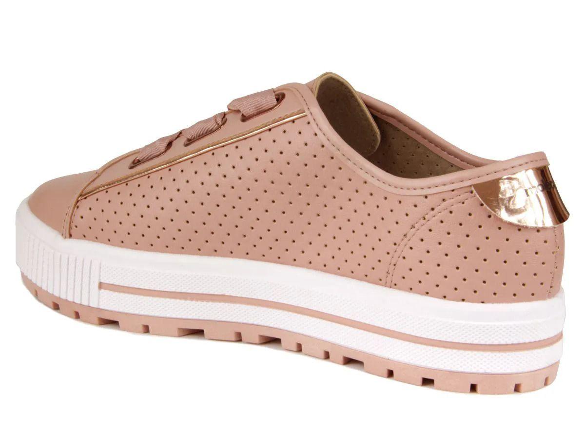 Sapato Casual Fem 5699.101 Rosa Moleca