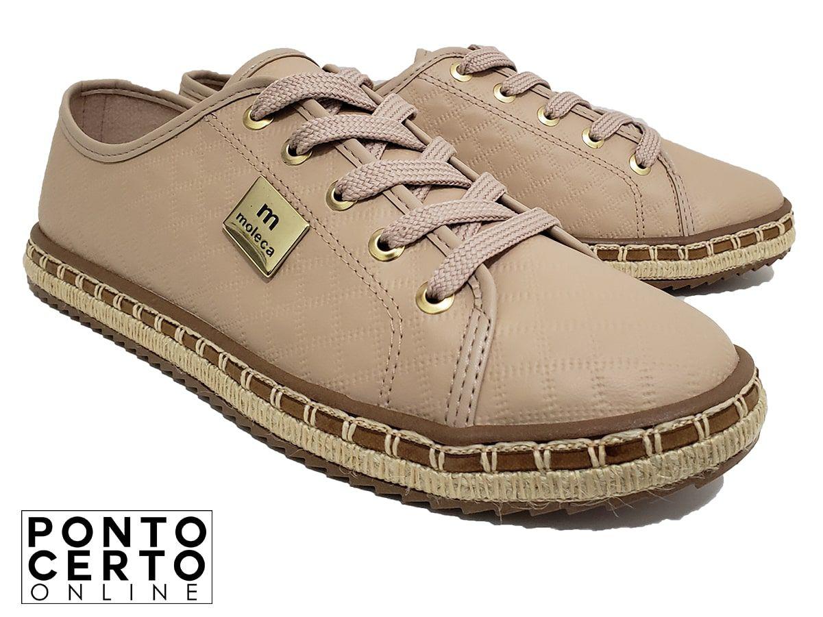Sapato Casual Moleca 5674.101 Bege