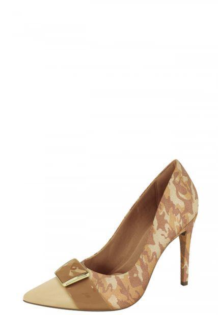 Sapato Scarpin Camuflado Ramarim
