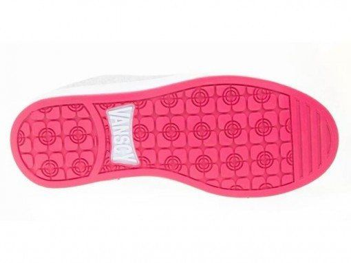 Tenis 105 Vanscy Cinza/Pink