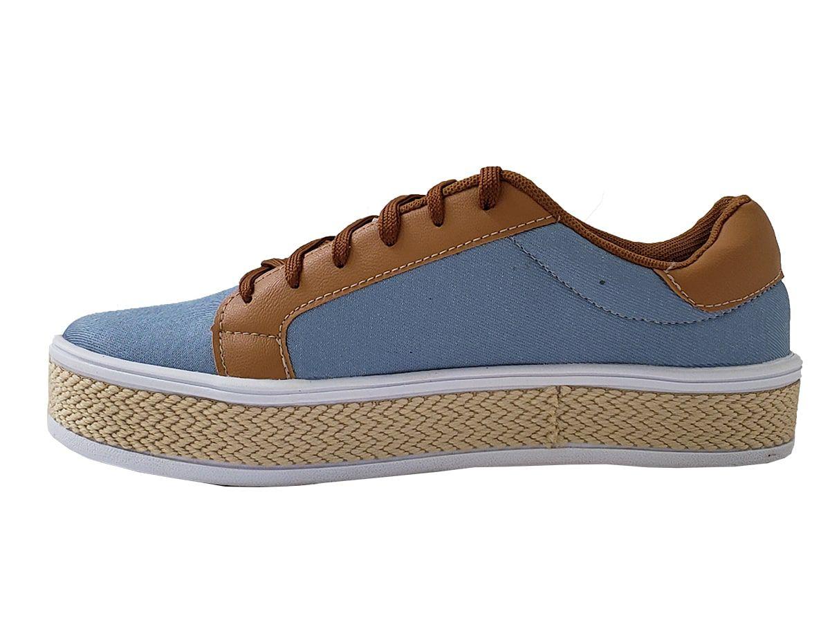 Tênis Feminino  1053 Jeans Lavado Saygon conforto