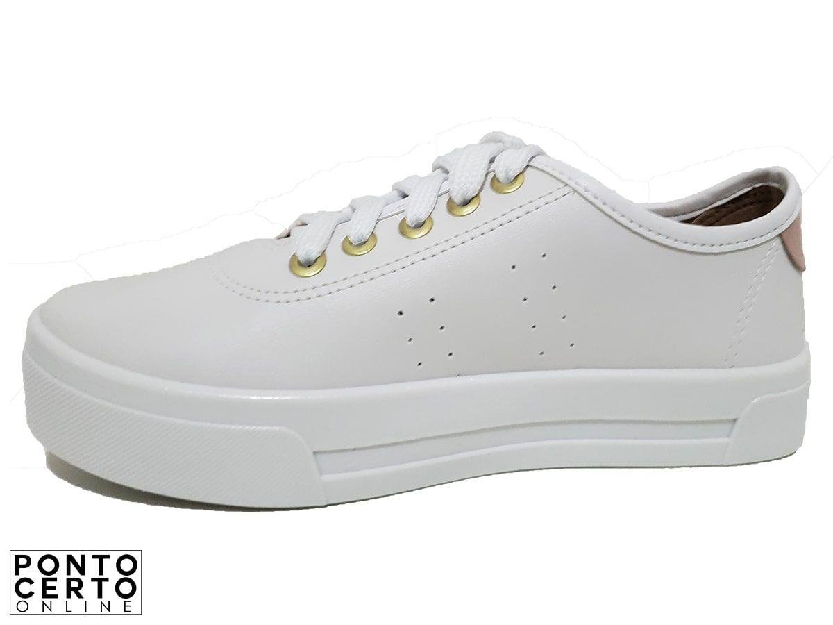 Tênis Fem 5667.308 Branco Moleca