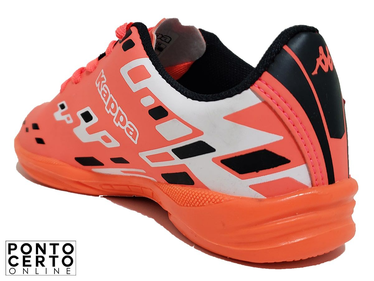 Tenis Futsal feminino  303P8Y0 Laranja Kappa