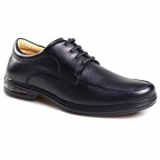 Sapato Casual Preto Masculino Comfort Rafarillo com Amortecedor