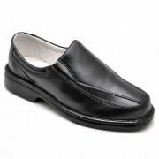 Sapato Masculino Confortável Palmilha Gel Massageadora Couro de Carneiro