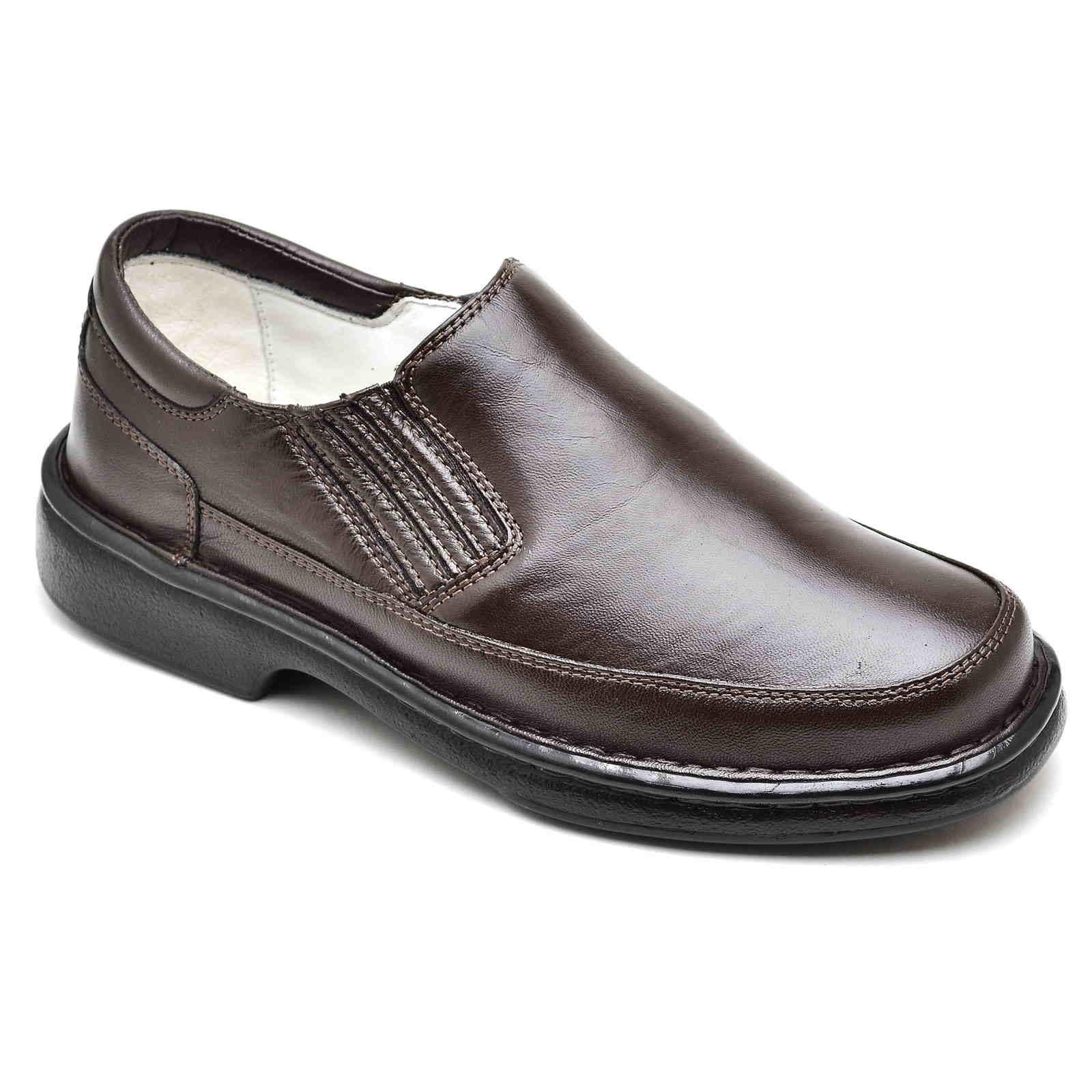 Sapato Casual Confortável Masculino Couro de Carneiro