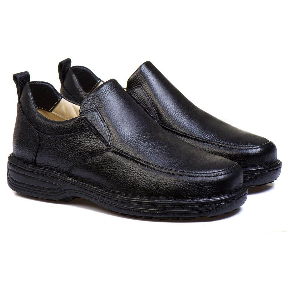 Sapato Masculino Couro Preto Confortável