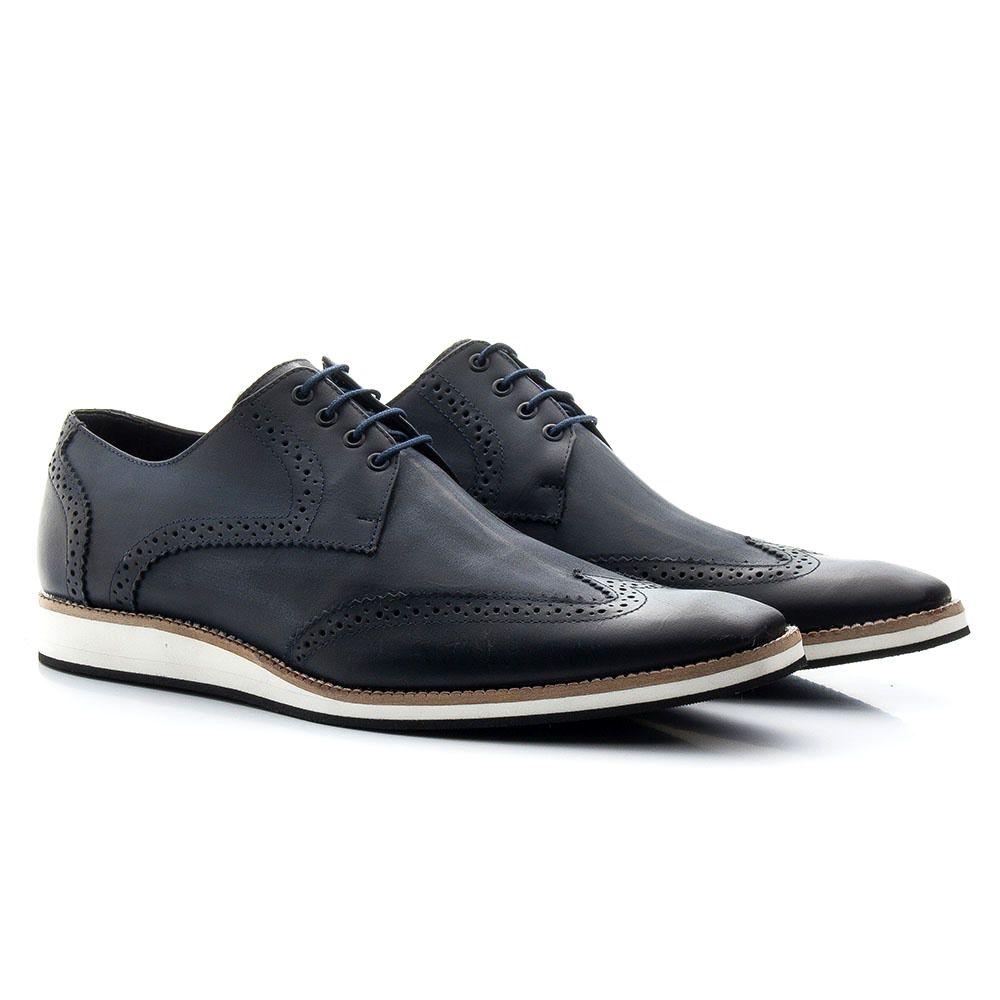 Sapato Masculino Oxford Torani Couro Azul