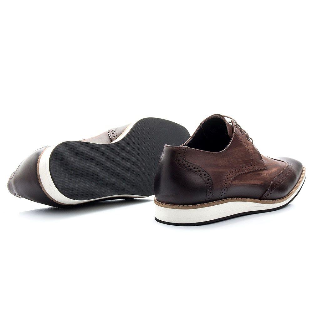 Sapato Masculino Oxford Torani Couro Marrom