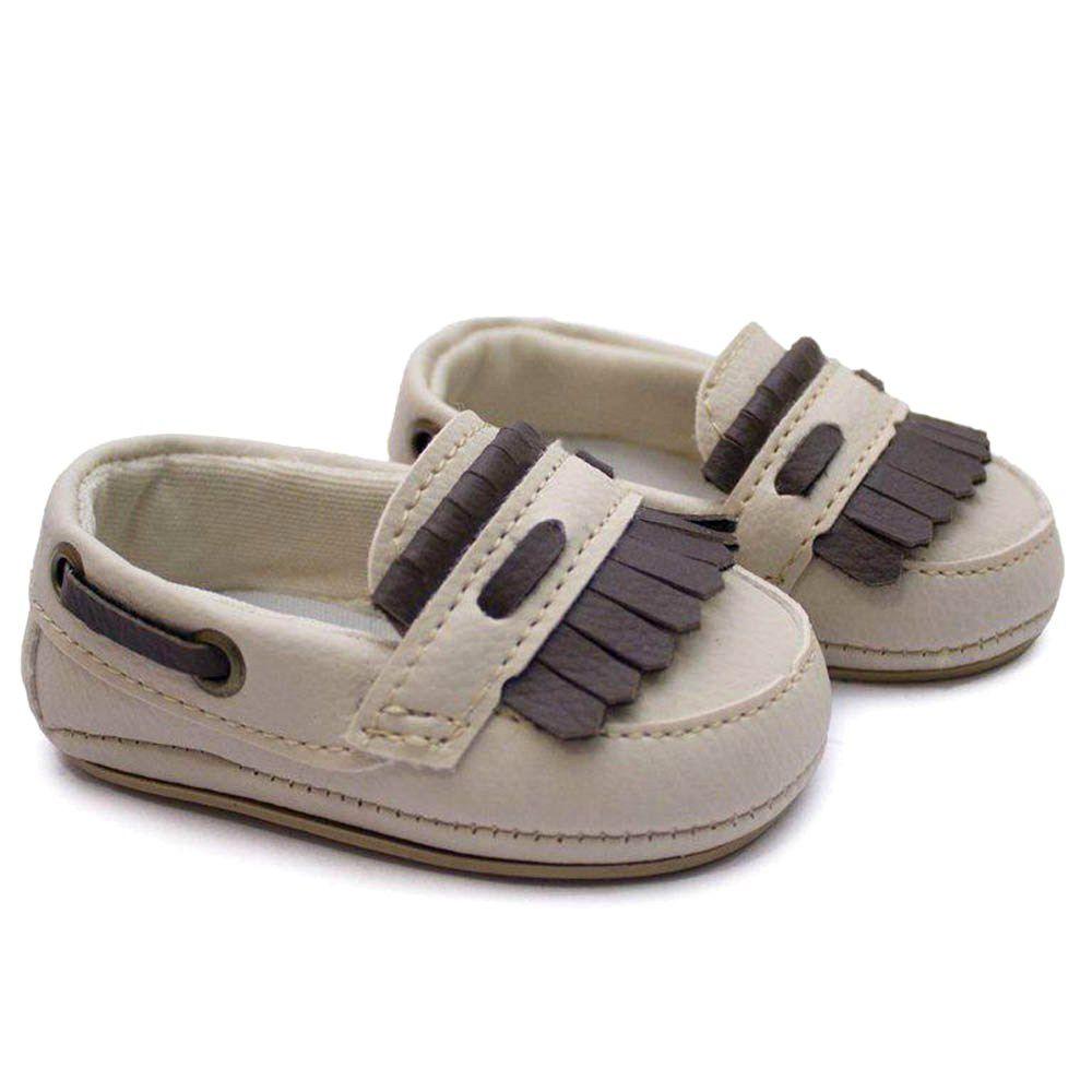 Sapato Mocassim Infantil Bebê Bege