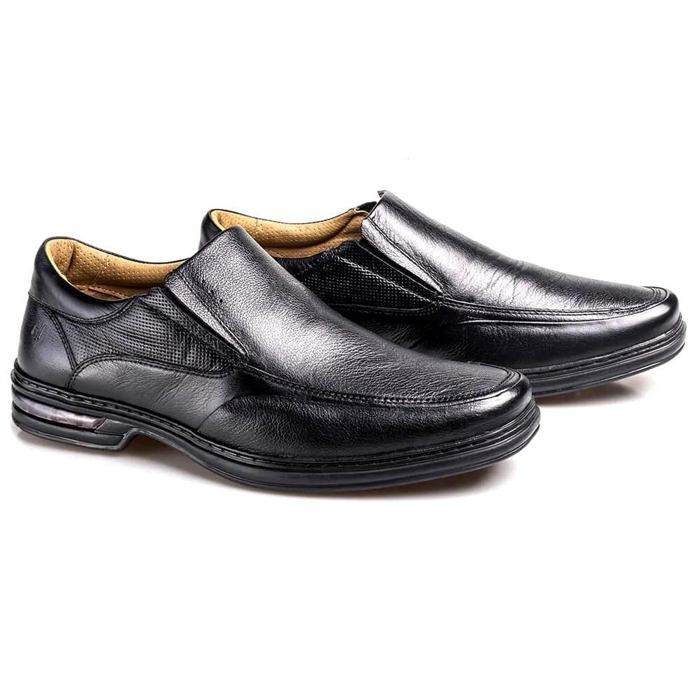 Sapato Preto Masculino Comfort Rafarillo com Amortecedor