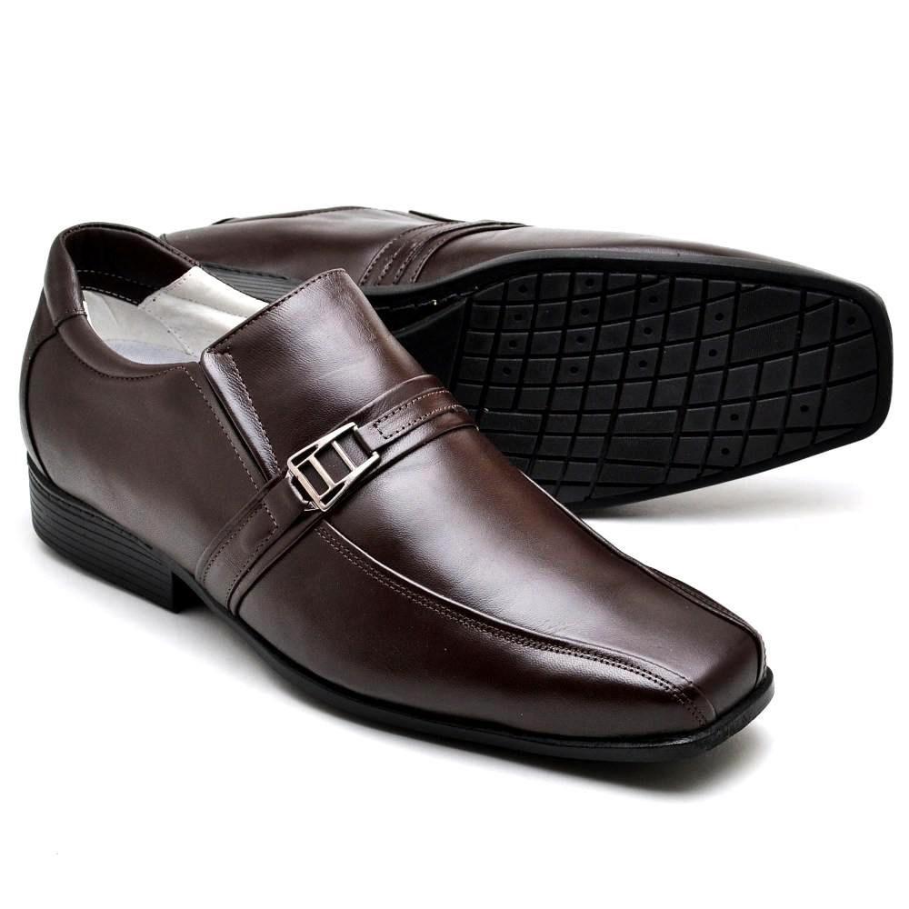 Sapato Social Masculino Couro de Carneiro Marrom