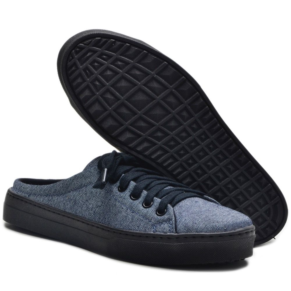 Tênis Mule Azul Jeans Feminino Torani