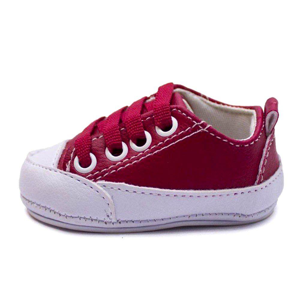 Tênis Vermelho Infantil Bebê