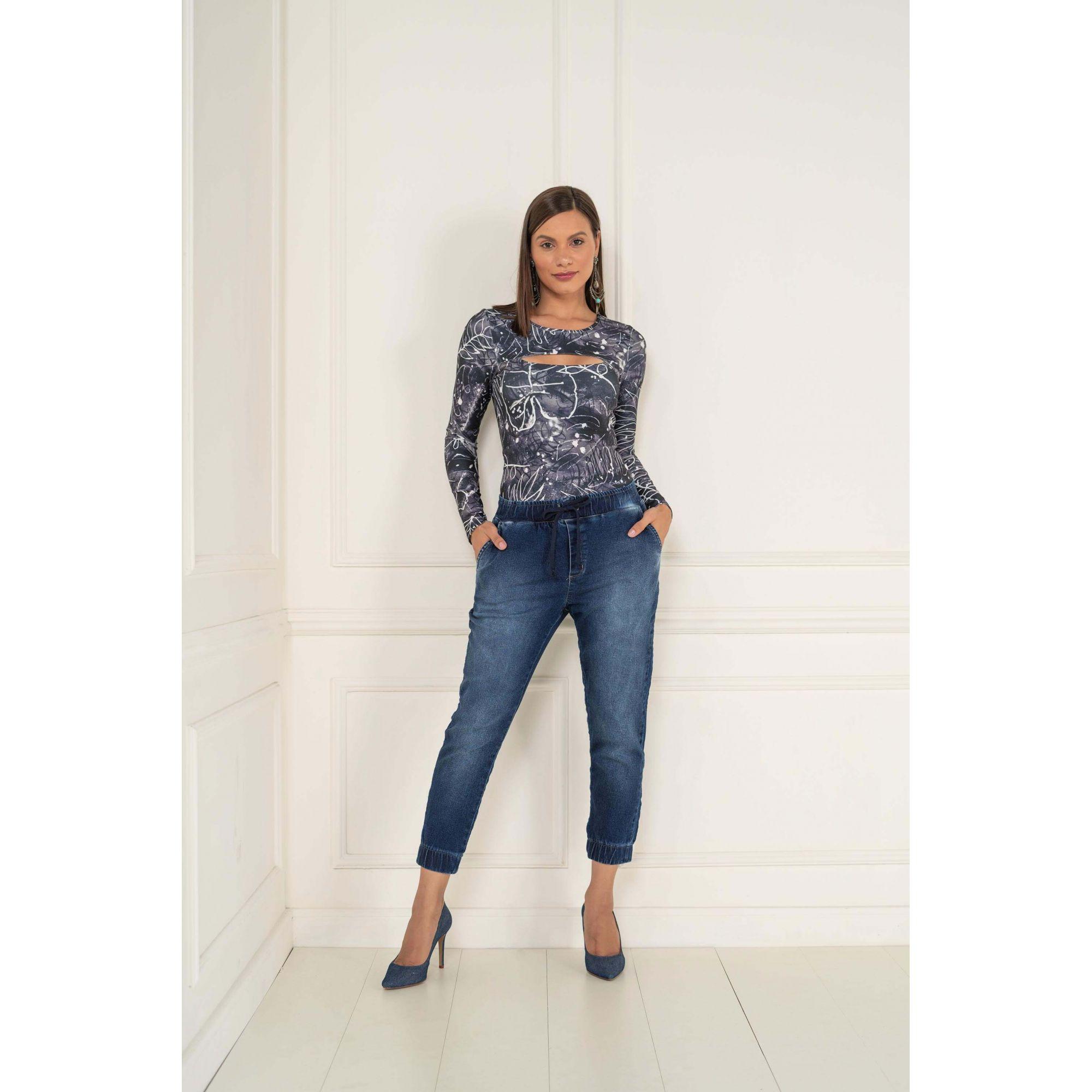Calça Feminino Jogger Lycra Jeans - KACOLAKO