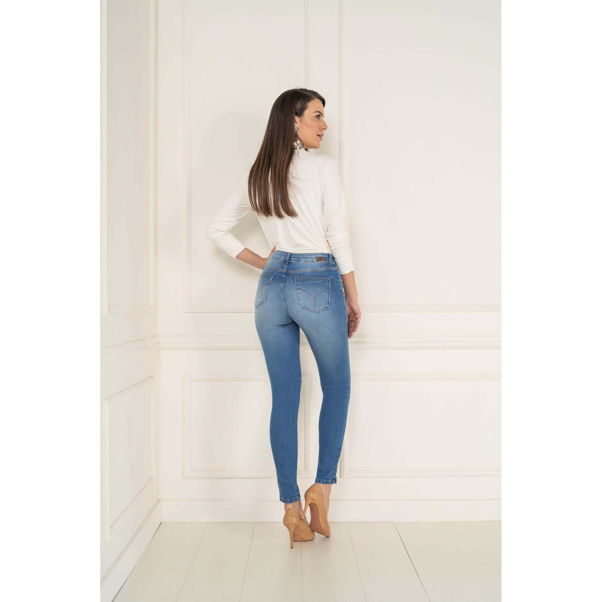 Calça Jegging Chapa Barriga Lycra Jeans - KACOLAKO