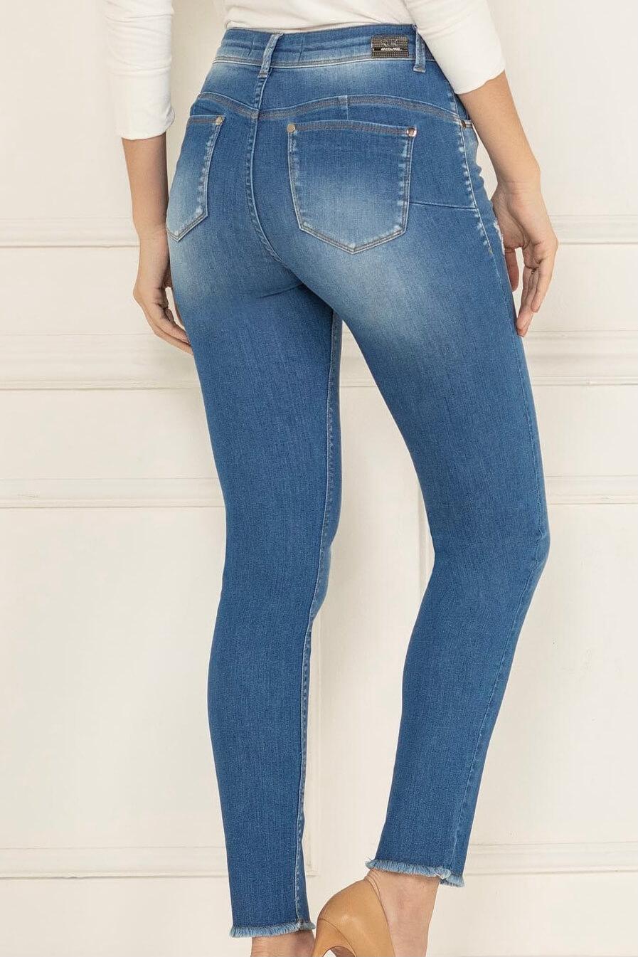 Calça Jegging Lycra Levanta Bumbum Jeans Feminino K34849 - KACOLAKO