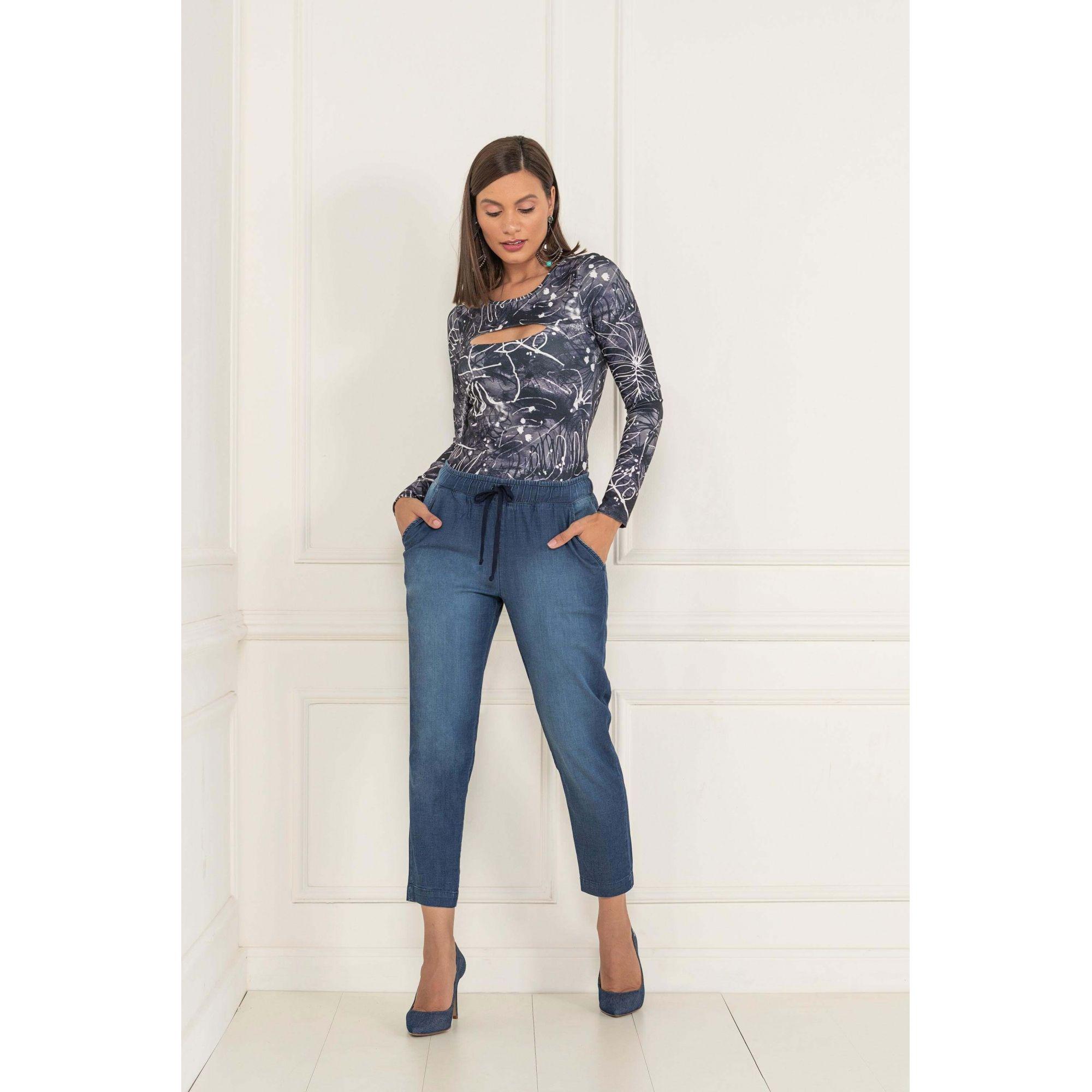Calça Jogger Lycra Jeans - KACOLAKO
