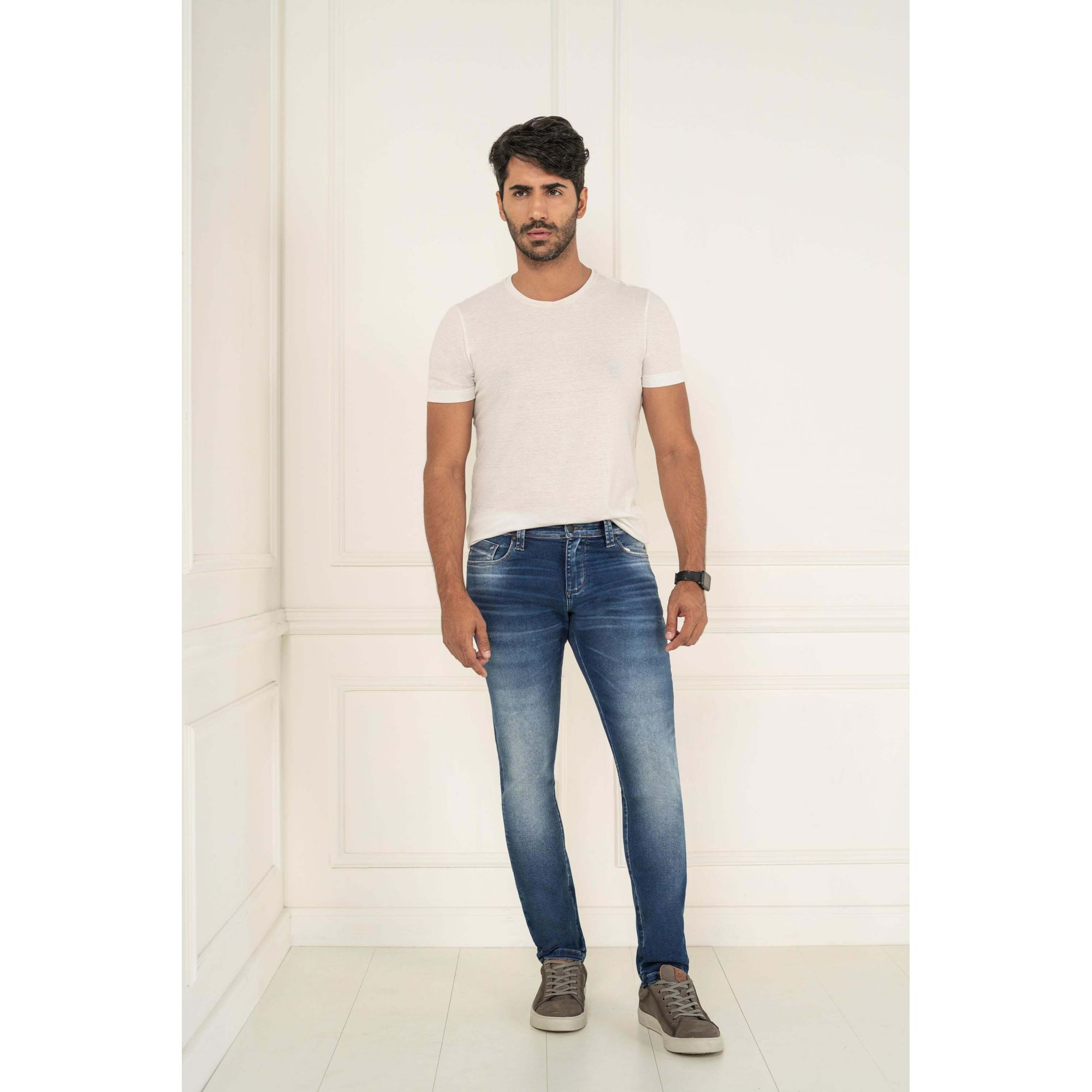 Calça Masculino Skinny Lycra Jeans - KACOLAKO