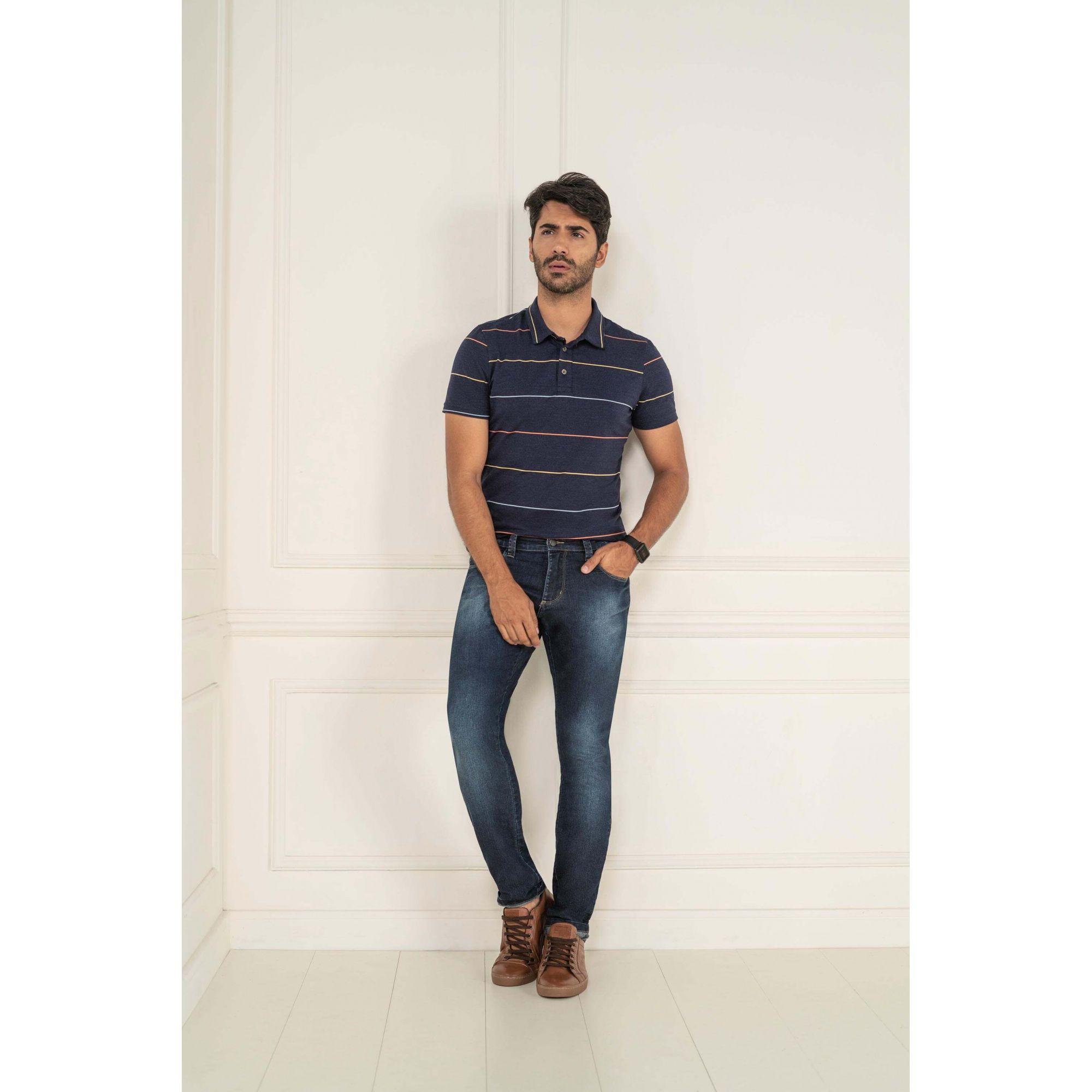 Calça Masculino Slim Lycra Jeans - KACOLAKO