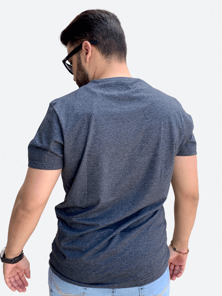 Camiseta Manga Curta Basic Mescla Estampa - AEROPOSTALE