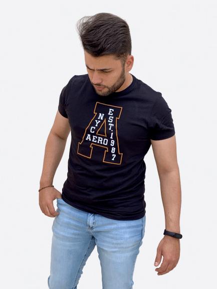 Camiseta Manga Curta Bordado - AEROPOSTALE
