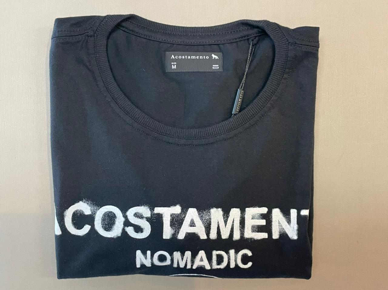 Camiseta Manga Curta Estampa Lettering - Acostamento