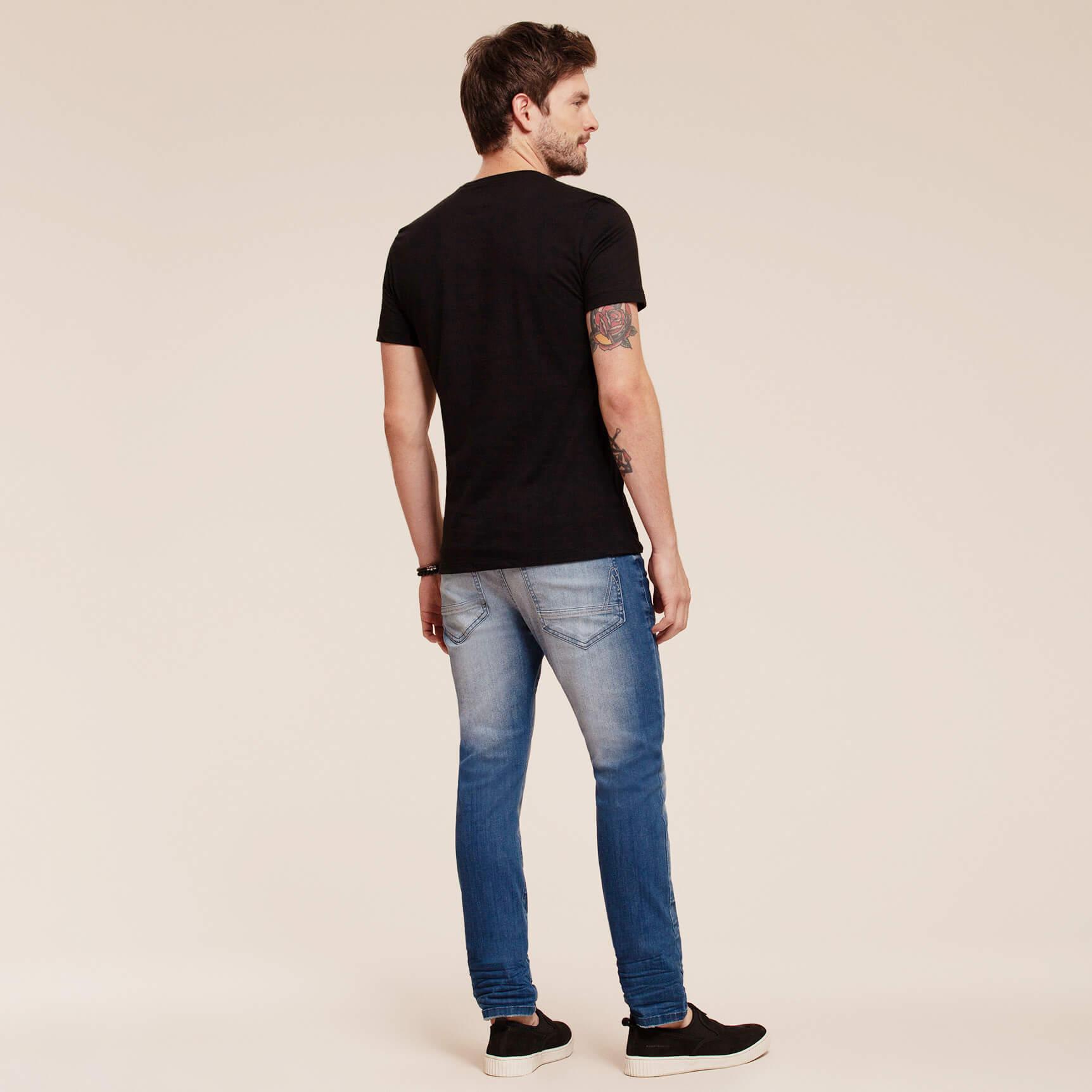 Camiseta Manga Curta Estampa Lobo - Acostamento